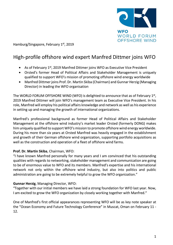 WFO – Press release 01/02/2019