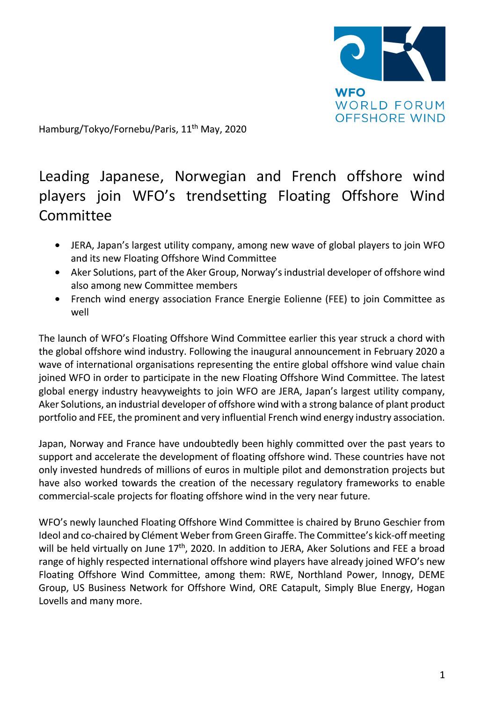 WFO – Press release 11/05/2020