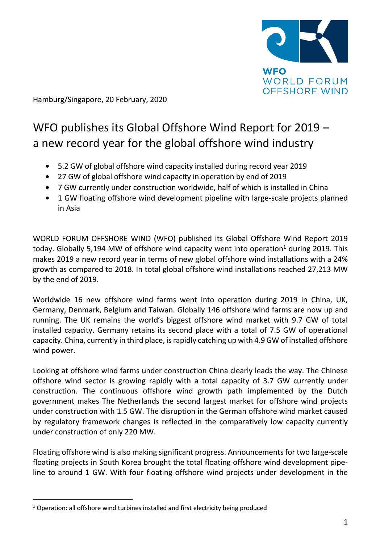 WFO – Press release 20/02/2020